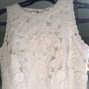 Beautiful detail white dress -
